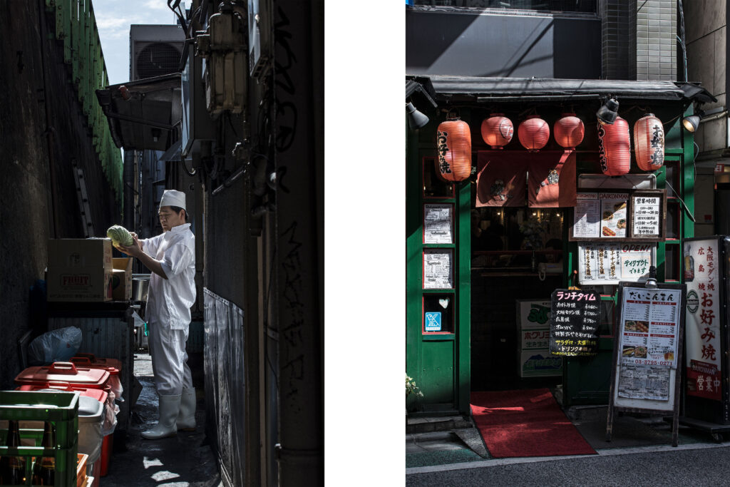 Tokyo streets, Japanese worker, Chef, Izakaya, restaurant, Shimo-Kitazawa, Tokyo street photography