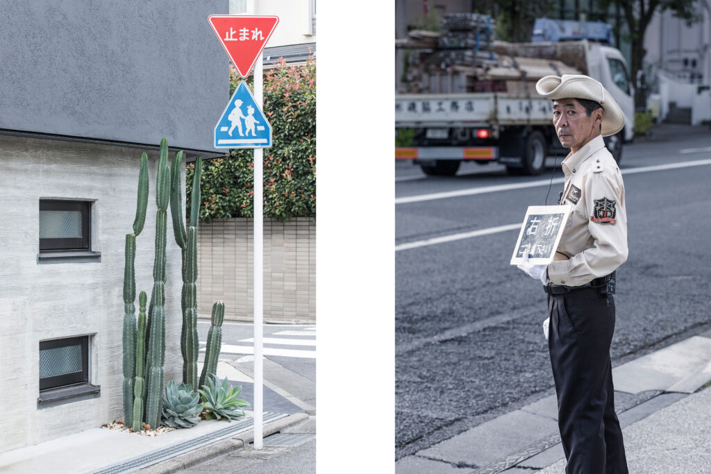 Tokyo streets, cactus, Japanese worker, Tokyo street photography
