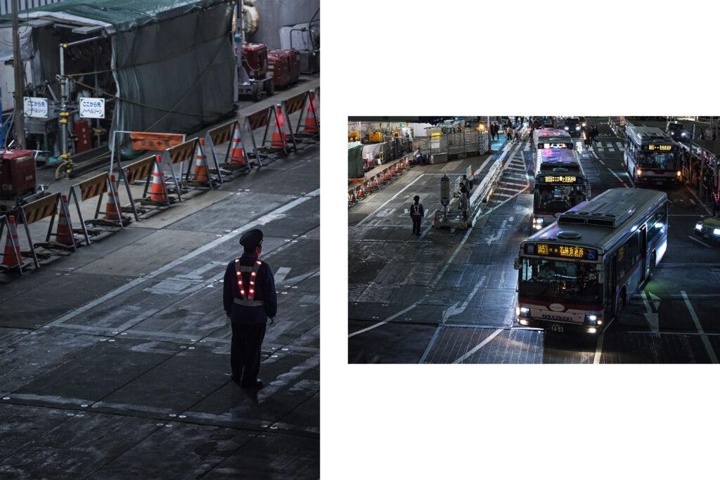 Tokyo streets, Japanese worker, Tokyo nightlights, bus, Shinjuku, Tokyo street photography