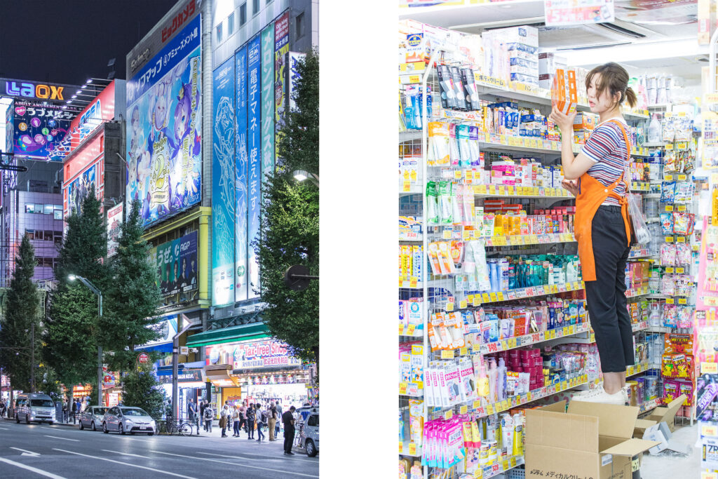 Tokyo big malls, Akihabara, Tokyo nightlights, Japanese worker, Tokyo street photography